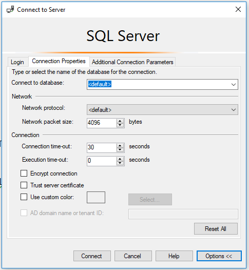 Encrypt Connection SQL Server